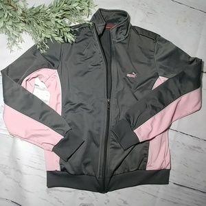 Pink Grey Puma track jacket